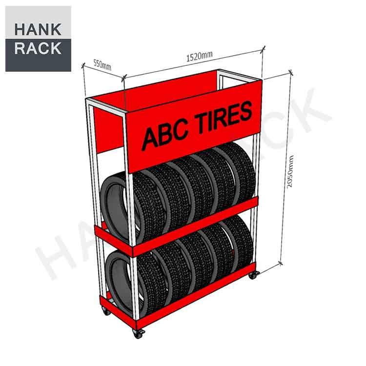 Tire-display